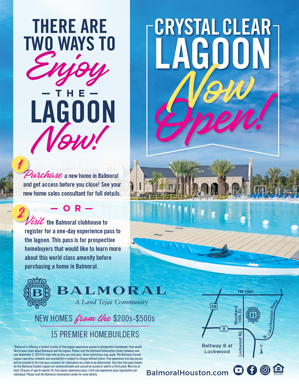 Enjoy the Lagoon Now!
